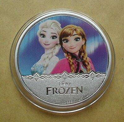 New Zealand 2016 Silver Plate Disney Frozen Elsa/anna Coin In Capsule
