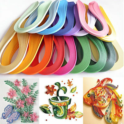 120 Stripes Quilling Paper 3mm Width Solid Color Origami Paper DIY Hand Crafts