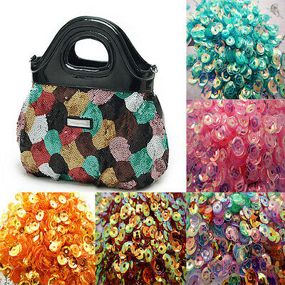 NEW DIY Oval Round Loose Sequins  Sewing Wedding Craft Many Color Pick