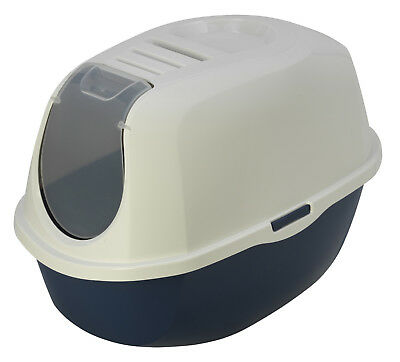 MAISON DE TOILETTE CHAT-BAC LITIERE CHAT avec FILTRE ANTI ODEUR AS97417FIB-bleu