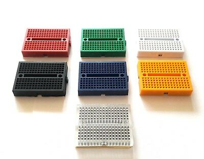 Mini Breadboard 170 Tie Points Various Colours Great for Prototyping - UK Seller