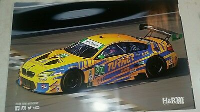 Turner Motorsports racing/H&R BMW poster
