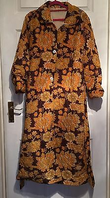 Fabulous Vintage Original 1960s 1970s Quilted Dressing Gown 12 14