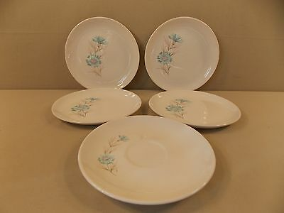 "Taylor Smith Taylor ""Boutonniere"" 4 Bread & Butter Plates and 1 Saucer"
