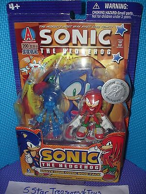 Issue 200 Comic Book Translucent Blue Sonic the Hedgehog and Knuckles Exclusive