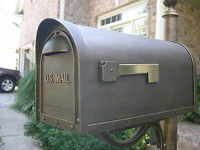 Cast Aluminum Mailbox and post - Rubbed Bronze Finish