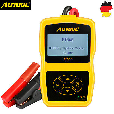 AUTOOL BT-360 Auto AGM GEL Batterietester Ladestation Test CCA 100-1400