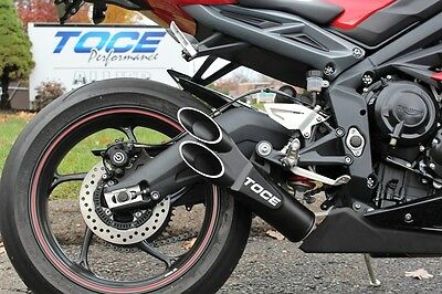 Toce™ 2013-2016 Triumph Daytona 675 Razor Tip Slip-On Exhaust