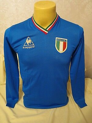 Italy Football Shirt 1982 Le Coq Sportif Paolo Rossi Rare Mint Small S Home