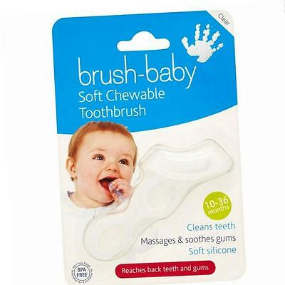 Brush-Baby Chewable Toothbrush (Clear) Dentist Designed