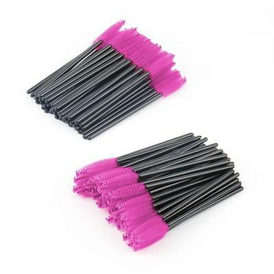 Disposable 50X Wands Eyelash Brushes Lash Extension Applicator Spoolers Tool Set