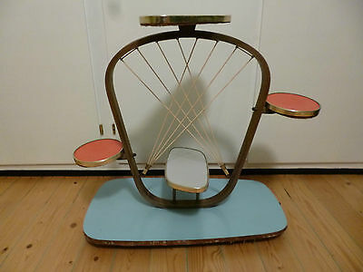 Important mid century 50s table rare design pop art deco German made 26""