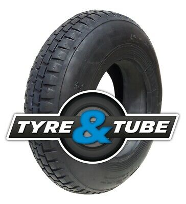 4.80/4.00-8 Wheelbarrow tyre & inner tube 4 ply BLOCK TREAD 400x8 480 / 400 - 8