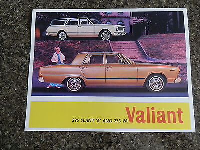 1966 Vc Chrysler Valiant  Brochure.  100% Guarantee.
