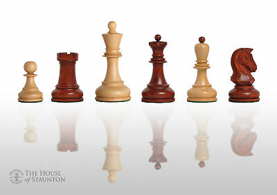 """USCF Sales The Dubrovnik Chess Set - Pieces Only - 3.75"""" King - Mahogany Gilded"""