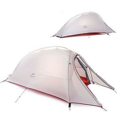 2 Person Tent ultralight 210T Plaid Fabric Tents Double-layer Camping Tent