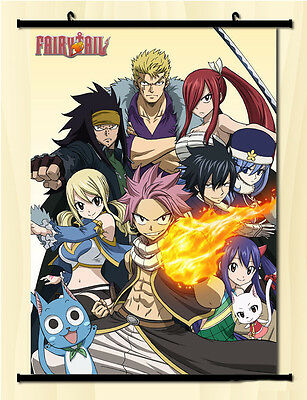 Home Decor Japan Anime FAIRY TAIL Wall Poster Scroll Cosplay   66