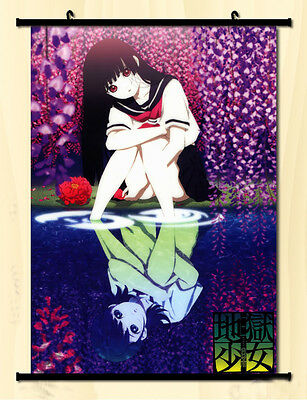 Poster Scroll Home Decor Japanese Anime Hell Girl Cosplay Wall   40*60cm