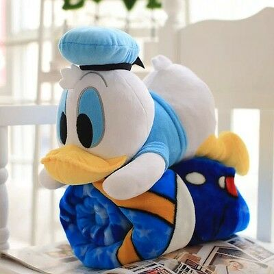Cartoon 160*100cm Donald Duck Pattern Plush Air Conditioning Blanket Cover Gift