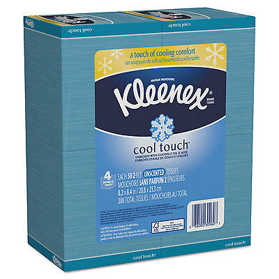Cool Touch Facial Tissues, 2-Ply, White, 4 X 4, 50/box, 3 Box/pack