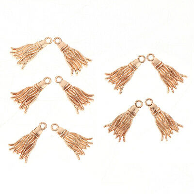 10pcs Gold Tassel Shape Charms Pendants for Bracelet Necklace Jewelry Making