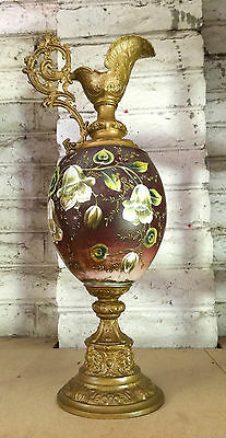 Antique Pitcher Decorative Arts Ornament Large Great Detail Jug Home Decor Rare