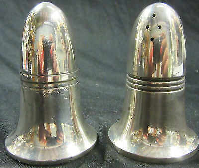 "Vintage Silver Salt And Pepper Shakers - Walker & Hall ""T"" Series - Salt Shakers"