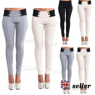 Womens High Waisted Stretchy Skinny Jeans Ladies Pencil Pants Jeggings Legging