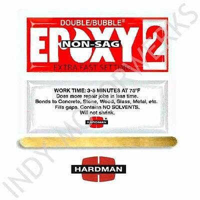 RED 2 NON SAG DOUBLE BUBBLE 3.5g PACKET 10 PACKS INCLUDED 04008 HARDMAN FAST SET