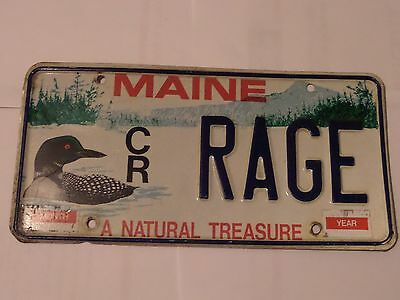 Maine Loon License Plate Rage