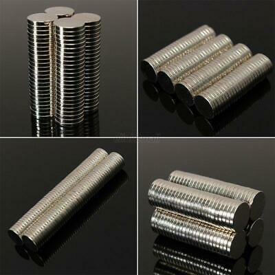 50-100Pcs Pro Strong Round Disc 10x1mm 10x2mm Magnets Rare-Earth Neodymium N35
