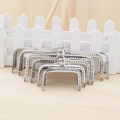 2 X Metal Square Coin Purse Frame Wallet Bag Clasp DIY Sewing 6.5cm-18cm Silver