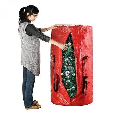 Elf Stor Deluxe Red Holiday Christmas Tree Storage Bag Large For 2.7m Tree. Ship