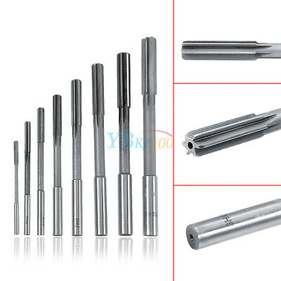 8Pcs 3-10mm Set Straight Shank HSS Chucking Reamers Milling Countersink Cutter
