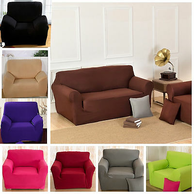 Washable Sofa Slipcover Stretch Protector Soft Couch Cover For 1/2/3/4 Seater