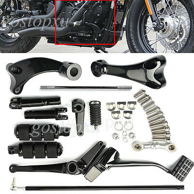 Forward Controls Foot Pegs Linkages Levers For 04-16 Harley Sportster 883 1200
