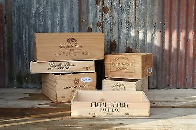 6 X Reclaimed Wooden Wine Boxes/crates/storage/toys/shelf/drawer/hamper/planter