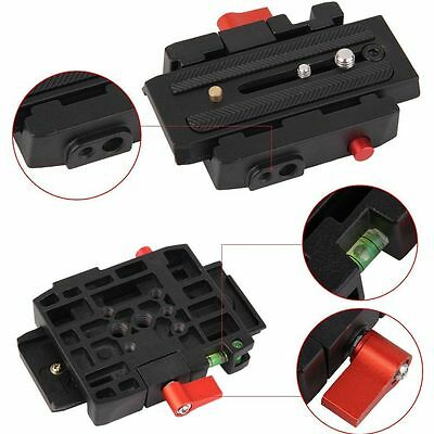 DSLR Camera Quick Release Adapter System With Slide Plate for Tripod Ball Head