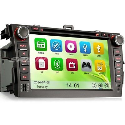 """8""""Car Audio BT GPS Radio CD DVD Player In-Dash Stereo For TOYOTA COROLLA 8288AS"""