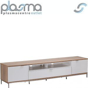 """Alphason Chaplin 2000 TV Stand for TVs up to 90"""" - Oak & White"""