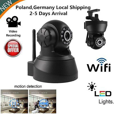 DE STOCK App Wireless Control IP Kamera 720P CCTV WLAN Netzwerk Webcam Camera