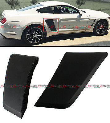 For 2015-2017 Ford Mustang GT Style Rear Fender Panel Door Side Scoops Vents