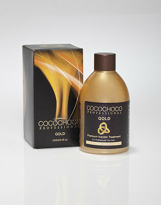 Cocochoco Gold Brazilian  Keratin Blow Dry  Hair Straightening Treatment 250Ml