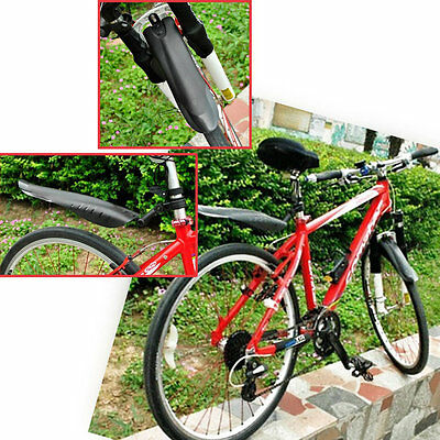 Adjustable Mountain Bicycle Bike Front/Rear Mud Guards Mudguard Fenders Set SI