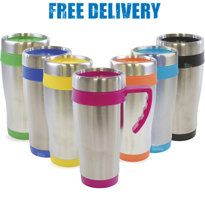 Stainless Steel Travel Mug Double Wall Insulated Tea Coffee Drink Hot Cold Lid