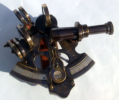 Collectible Marine Brass Nautical German Marine Sextant 3""