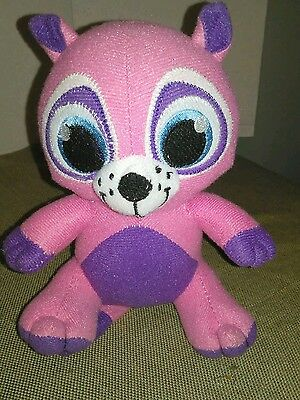 "Peek A Boo Toys Pink And Purple Raccoon  Stuffed Animal 7"" small"