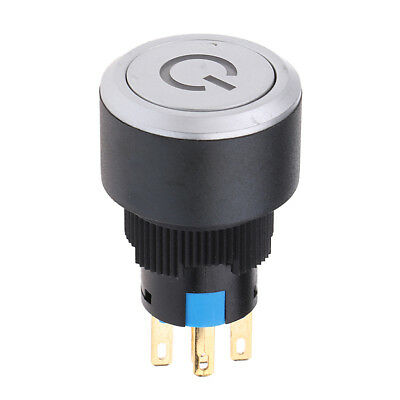 22mm Push Button Green LED Momentary Switch on/off 12V SPST