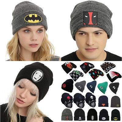 Men Womens Winter Knit Ski Crochet Hat Beanie Cartoon Comic Slouch Knitted Cap