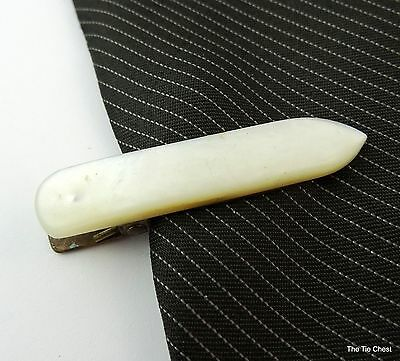 "Antique Napkin Clip Tie Clasp Mother-of-Pearl 1.5"" 4cm Victorian Edwardian"